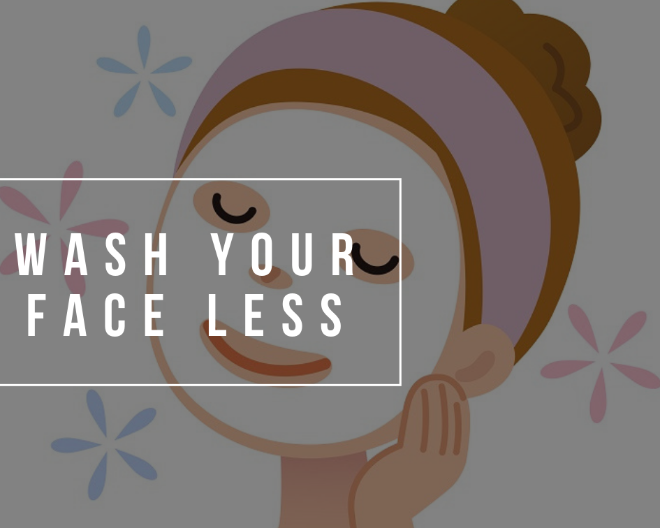 Should you wash your face with water less? The answer is YES.