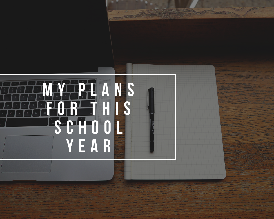 My plans for this university year | 2018