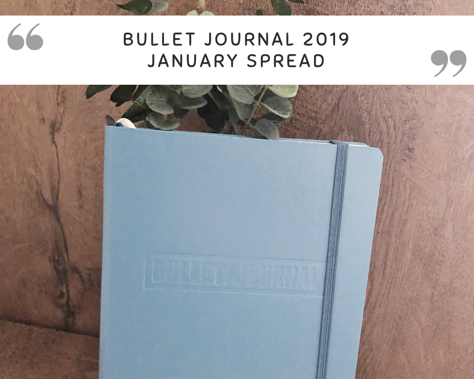 Starting a new bullet journal | January setup
